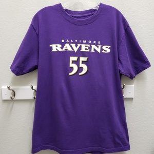 NFL Baltimore Ravens 55 Suggs Large Football Tee
